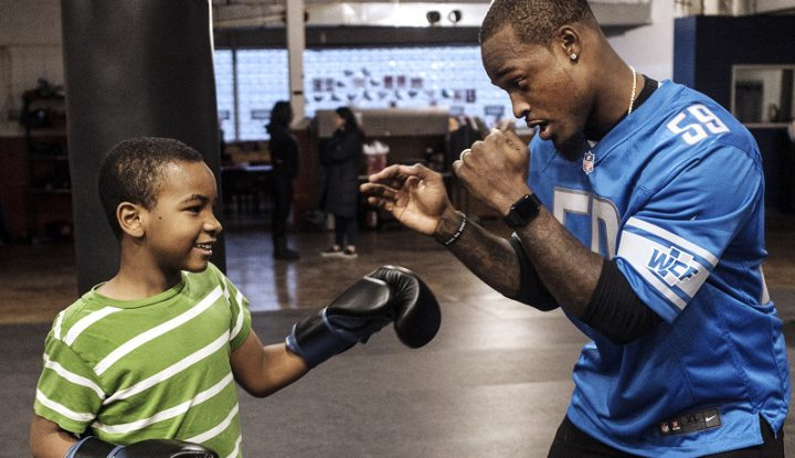 Tahir Whitehead Gives Back Through Downtown Boxing Gym